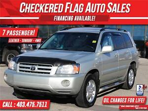 2006 Toyota Highlander LIMITED 7 Passenger-4WD-LEATHER-170000km