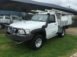 2012 Nissan Patrol MY11 Upgrade ST (4x4) White 5 Speed Manual Trayback Toowoomba Toowoomba City Preview