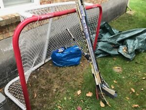Road Hockey Net and Gear