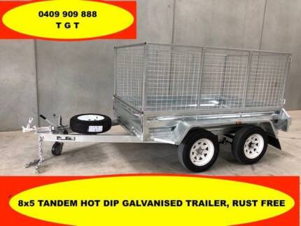 10x5 TANDEM HOT DIP GALVANISED TRAILE