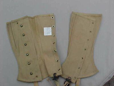 Spats, Gaiters, Puttees – Vintage Shoes Covers ORIGINAL WWII US ARMY PAIR LEGGINGS / SPATS 1942 KHAKI $39.88 AT vintagedancer.com