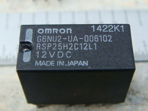 LOT 12 OMRON G6NU-2UA RELAYS - DPDT 12VDC 1-Coil LATCHING - New and Unused