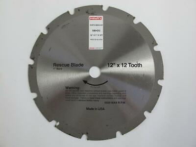 Hilti New Rescue 12 X 12 Tooth Saw Blade Demolition Fire Rescue Sbhdc 1 Bore