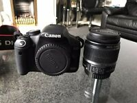 Canon EOS 500D camera for sale, battery, 55mm lens, chargers and travel bag included.