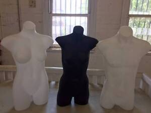 Mannequins - full Torso Mannequin. Male & female $20 each Moonee Ponds Moonee Valley Preview