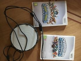 Wii Skylanders set - game, bag, figures