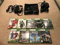 X Box 360 with games and re-chargeable controllers