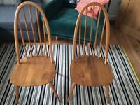 2 x Ercol Dining Chairs - £100 for the pair