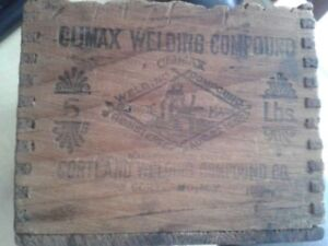 Rough Sawn Early 20th Century Climax Welding Compound Box