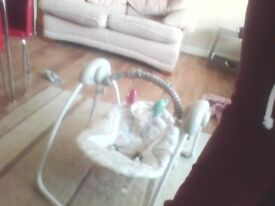 this automatic swing is only 2 months old its in great condition . and is fantastic for little ones