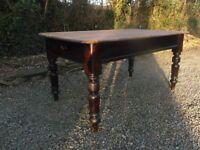 victorian scrub top kitchen table