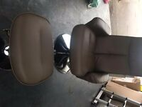 BRAND NEW LEATHER RECLINER CHAIR WITH FOOTSTOOL