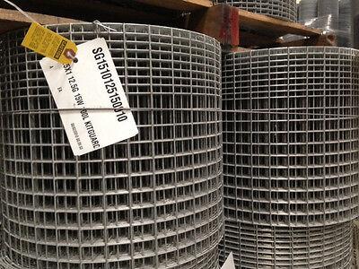 1.5x1 12.5g 15x100 Kitguard Galvanized Welded Wire Mesh Rolls Gaw