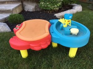 Sand and water table Ages 2-5