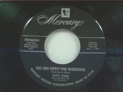 Patti Page  Go On With The Wedding   The Voice Inside  45 Mint