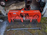 KUBOTA 46 inch SNOWBLOWER GR2707 FOR GR2000 & GR2100 TRACTORS £550.00