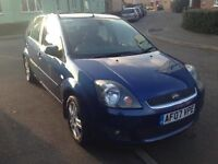 2007 FORD FIESTA ZETEC CLIMATE BLUE/ SPARE OR REPAIR/ NEW MOT