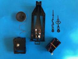 Grandfather or Grandmother Clock Conversion to Battery Kit - Chiming Movement