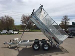 NEW 2018 K-TRAIL 6' x 12' DUMP TRAILER w/ 3' SIDE EXTENSIONS