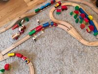 Wooden Train Set including Brio etc with tracks & trains - Children's toy