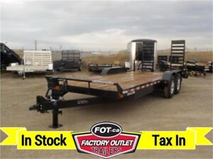 14,000# GVWR ---> 20 ft HD Equipment Hauler by Canada Trailers