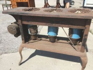 Vintage kerosine metal stove, great display piece