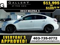 2012 Mazda Mazda3 GX $109 Bi-Weekly APPLY NOW DRIVE NOW