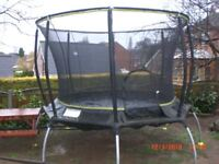 Genious 10ft Octagonal Trampoline this is the SAFETY TYPE where springs are covered (new cost £475)