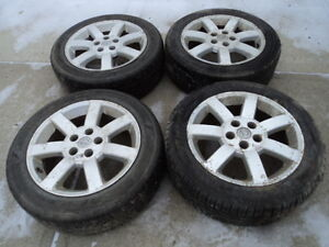 4 Goodyear Tires with Rims for Nissan Vehicles