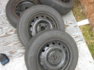 wave / aveo rims and tires.... 4 x 100..may trade