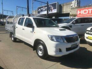 2014 Toyota Hilux KUN16R MY14 SR White Manual Utility Granville Parramatta Area Preview