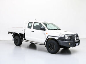 2012 Toyota Hilux KUN26R MY12 SR (4x4) White 5 Speed Manual X Cab Cab Chassis