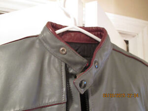 Retro Leather Motorcycle Jacket Women's