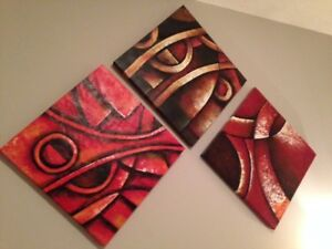 Abstract Canvas Paintings - PRICE NEGOTIABLE