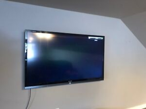 70 inch Sharp Quattron tv with wall mount