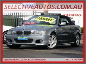 2005 BMW 325CI E46 25Ci Silver 5 Speed Auto Steptronic Convertible Homebush Strathfield Area Preview