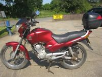 2005 MODEL YAMAHA SR 125 MOTORCYCLE IN ORIGINAL RED-1 OWNER-LOW MILES