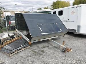2003 NorthTrail Galvanized 2 Place Clamshell Sled Trailer