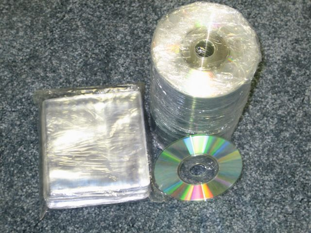 "600 MINI 3"" CD CD-R SILVER SHINY THERMAL W SLEEVE JS403"