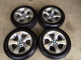 "GENUINE 16"" F30 BMW WHEELS AND TYRES(5x120,VIVARO,PRIMASTAR,TRAFFIC,320D,318,330,335,E90,E46,CI)"
