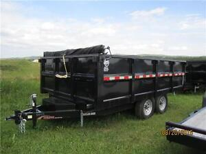 2014 Mirage Dump Trailer 8.5 x14 7000# axles Bumper Pull