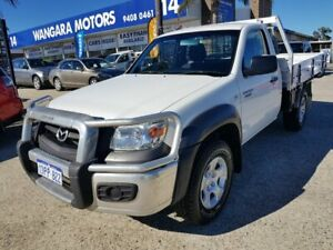 2011 Mazda BT-50 09 Upgrade Boss B3000 DX (4x4) White 5 Speed Manual Cab Chassis Wangara Wanneroo Area Preview