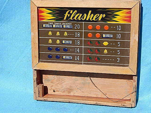 1937 ? Mills Flasher Score Glass and Back Box Assembly