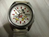 MENS VINTAGE SEIKO MICKY MOUSE WATCH