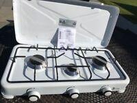3 Burner Camping Cooker Gas Stove New Unused White Enamel