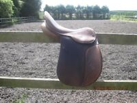 """17"""" GP/event GFS XCH brown saddle"""