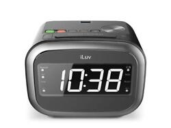 iLuv Morning Call 2 Alarm Clock with Wireless Bluetooth Speaker (Black)