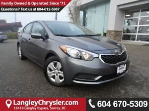 2016 Kia Forte 1.8L LX *ACCIDENT FREE*ONE OWNER*LOCAL BC CAR*