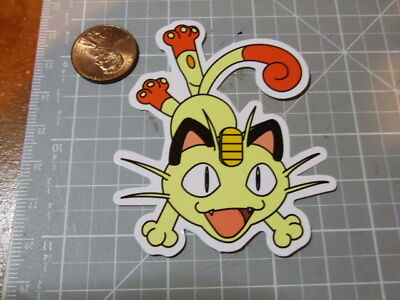 Capiz Home Decor GLOSSY MEOWTH POKEMON Sticker/ Decal Skateboard Laptop Stickers NEW