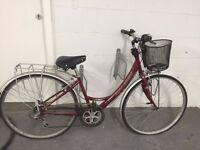 Ladies road bike with basket